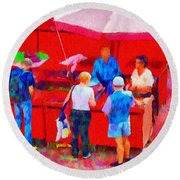 Fruit Of The Vendor Round Beach Towel by Jeff Kolker