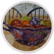Fruit On The Table Round Beach Towel