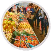 Fruits And Vegetables - Pike Place Market Round Beach Towel