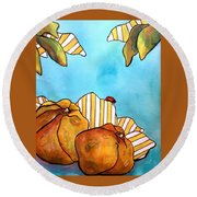 Fruits Of Passion Round Beach Towel