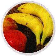 Frutta Rustica Round Beach Towel