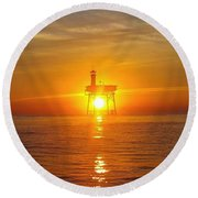 Frying Pan Tower Round Beach Towel