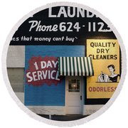 Ft Worth Cleaners  1927 81217 Round Beach Towel