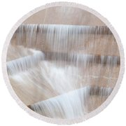 Ft Worth Water Gardens Round Beach Towel