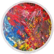 Full Color Particles Round Beach Towel
