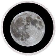 Full Moon 2 Round Beach Towel