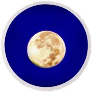Full Moon Fever Round Beach Towel