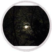 Full Moon In February Round Beach Towel