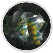Abstract Full Moon Round Beach Towel