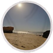 Full Moon Magic In Gale Beach Round Beach Towel