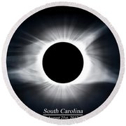 Full Totality Round Beach Towel