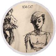 Fun At Art Of Fashion At Nacc 1 Round Beach Towel
