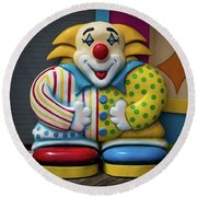 Fun House Clown Point Pleasant Nj Boardwalk Round Beach Towel