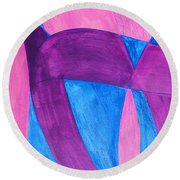 Fun In Abstract Word Art Round Beach Towel