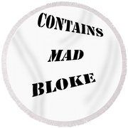 Fun Sign For Clothing And Decor Round Beach Towel