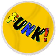 Funk Round Beach Towel
