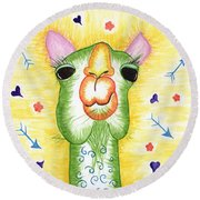 Funky Camel Round Beach Towel
