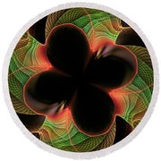 Funky Clover Round Beach Towel