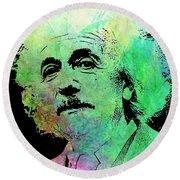 Funky Einstein  Round Beach Towel