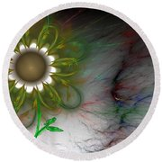 Funky Floral Round Beach Towel