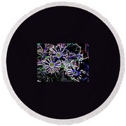 Funky Flowers Round Beach Towel
