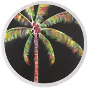 Funky Palm Tree Round Beach Towel