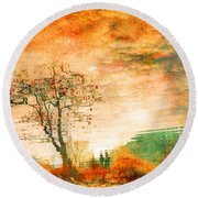 Funky Reflections Round Beach Towel