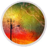 Funky Sunset Round Beach Towel