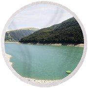 Funsingau Dam Near Gerlos Round Beach Towel