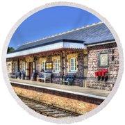 Furnace Sidings Railway Station 2 Round Beach Towel