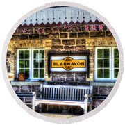 Furnace Sidings Railway Station 3 Round Beach Towel
