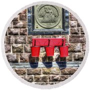 Furnace Sidings Railway Station 4 Round Beach Towel