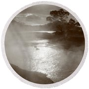 Furnas Hotsprings Round Beach Towel