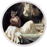 Fuseli: Nightmare, 1781 Round Beach Towel