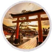 Fushimi Inari Taisha Shrine In Kyoto Round Beach Towel