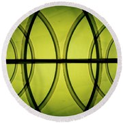 Futuristic Abstract Round Beach Towel