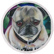 G Dawg Round Beach Towel