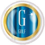 G For Golf Round Beach Towel