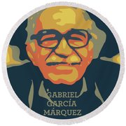 Gabriel Garcia Marquez Round Beach Towel