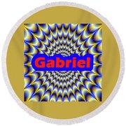 Gabriel Round Beach Towel