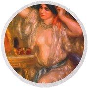 Gabrielle At The Mirror 1910 Round Beach Towel