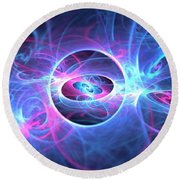 Galaxy Atoms Round Beach Towel