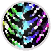 Galaxy In Time Abstract Design Round Beach Towel