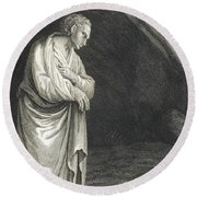 Galen, Greek Physician And Philosopher Round Beach Towel