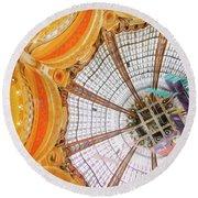 Galeries Lafayette Inside 3 Art Round Beach Towel