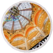 Galeries Lafayette Inside Art Round Beach Towel