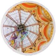 Galeries Lafayette Inside 4 Art Round Beach Towel
