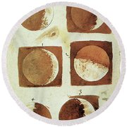 Galileo - Moon Round Beach Towel