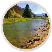 Gallitan River 1 Round Beach Towel