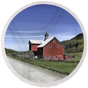 Gallop Road Barn Round Beach Towel